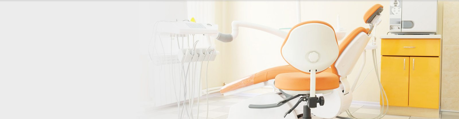 Modern dental units, chairs, equipment, tools and microscope